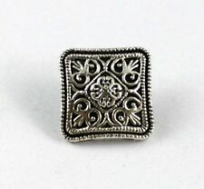 60PCS Tibetan silver floral square button beads FC15360