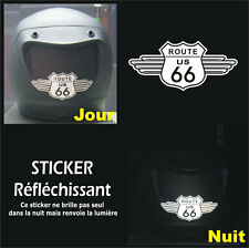 Sticker RETRO-REFLECHISSANTS ROUTE 66 pour CASQUE - Harley HD - 11cm x 5cm