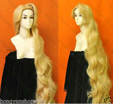 "60"" Cosplay Rapunzel Custom Styled Golden Blonde Long Wavy Wig 150cm"