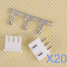 20 sets NEW 3 pin connector kit Connector Lead Header 2.54mm XH-3P Kit