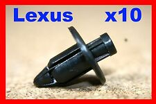 10 Lexus bumper fender trim board rubbing strip plastic push clips fasteners