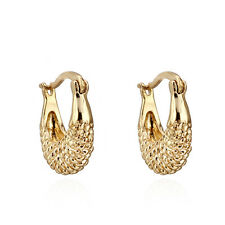 Fashion Jewelry Alluring 18K Yellow Gold Filled Hoop Earrings Womens Ear Stud