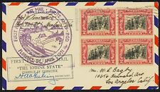 1931 FIRST FLIGHT AIRMAIL ROUTE AM 9 - FLORENCE, SC TO LOS ANGELES    (ESP#1362)