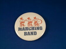 """""""MARCHING BAND"""" BUTTON pin pinback badge  Music  HIGH SCHOOL  COLLEGE  FOOTBALL"""