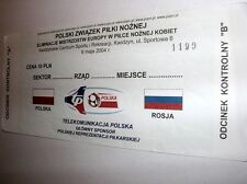 used ticket POLAND - RUSSIA 08.05.2004 Q to WEC