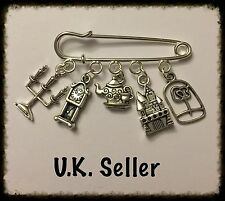 Beauty And The Beast Inspired Kilt Pin/Brooch/Bag Charm/Scarf Pin