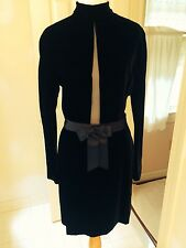 Genny Made in Italy black velvet dress IT 42 US 8 but not bigger than 4 or 6