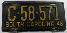 Oldie Nummernschild USA aus South Carolina von 1948. 13307.