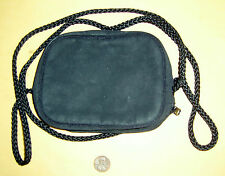 Black Faux Suede Dior TENDRE POISON Clutch Purse