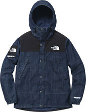 Rare Supreme The North Face TNF 3 Layers Windstopper Denim Dot Shot Jacket Large