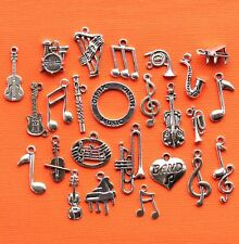 Music Deluxe Charm Collection 25 Silver Tone Charms FREE Shipping E19