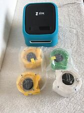 ZINK hAppy Wireless Photo And Label Printer W/ Rolls of Paper + Power adapter