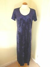 VINTAGE 90S FIT & FLARE DRESS NEW LOOK 18 CRUSHED VELVET WITCH/HIPPY/PAGAN/WICC