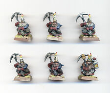 CITADEL WARHAMMER OOP DWARF MINERS VERY WELL PAINTED B