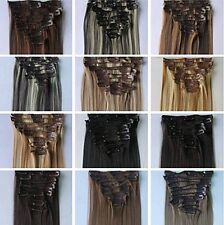 "14"" 100% Remy Human Hair Clip on Extensions 6 Pieces Set Color#1B Natural Black"