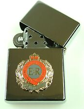 ROYAL ENGINEERS  WINDPROOF CHROME PLATED MILITARY UK & GB LIGHTER
