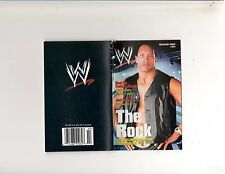 WWE/WWF Divas/Male wrestling Mini-magazine/The Rock 3 of 4 2003