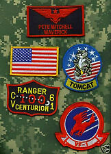 FANCY DRESS HALLOWEEN COSTUME PROP: Top Gun PETE MITCHELL Flight Suit Patch Set