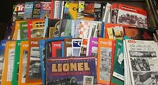 Lionel Trains Magazine/Papers Lot of about 100 Pieces 1950s-1990s! 120314am2