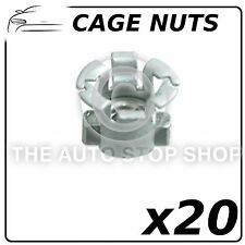 Fasteners Metal Cage Nuts Slotted Punched Hole Renault Master-Zoe 139 20PK