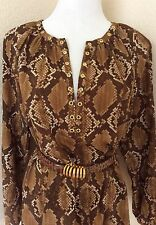 women's blouse tunic top shirt snake print New w tags By Michael Kors