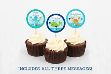 Blue Under The Sea Nautical Printable Cupcake Toppers Party Favor Tags