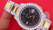 Rolex DateJust II 2 41mm Watch 116333 Iced Out 10 Carats Diamonds Classy Unused