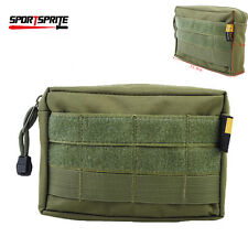 Tactical Airsoft Hunting Molle Utility Bag EDC Accessory Drop Vest Pouch OD 600D