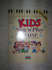 BG Kids Sing & n Play Praise Level Two songbook Easy Piano Solos Brentwood 1992