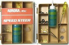 1981 Aurora Factory SpeedSteer Slot Car Service Center Tune Up Parts Tan