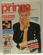 Prima  Magazine, April 1990. Mad about chocolate? 6 wicked pages. Kids jacket.