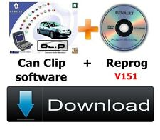 V164 Renault CAN Clip software + Reprog 151 Downloadable version
