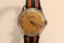 "ART DECO VINTAGE WW2 ERA  SWISS  MEN'S MECHANICAL WATCH ""CORTEBERT""/CAL.649/15 J"