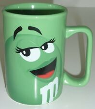 M&M Peanut Coffee MUG Cup Character Face Official Licensed Product GREEN 2011