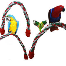 "45cm 17.7"" Pet Bird Parrot Rope Swing Parakeet Cockatiel Conure Budgie Cage Toys"