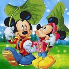 5D Mickey Mouse painting Embroidery Cross Stitch Diamond Crafts kits DIY