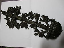 bénitier, objet de culte, sculpture bois, forêt noire, 19è