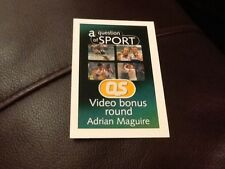 Adrian Maguire / Horse racing / A Question of Sport game card / 1999