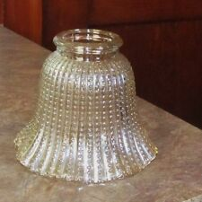 Vintage Fluted Beaded Hobnail Lamp Shade Globe Iridescent Carnival Glass
