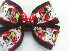 Girls Hair Bow Collection - Set of 10 Minnie Mouse designs - French Barrettes