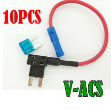 10X Mini Acs Blade Fuse TAP Add-A-Circuit Adapter Holder Auo Cart Tap