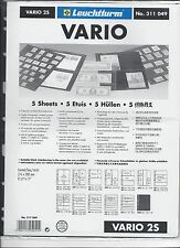 New Vario Stock Sheets 2S Two-Sided Horizontal Pockets Black Pkg. 5
