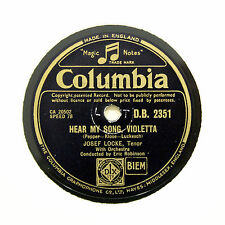 "JOSEF LOCKE ""Hear My Song, Violetta / Take You Home Kathleen"" COLUMBIA [78 RPM]"