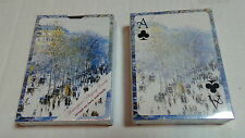 Claude Monet Boulevard des Capucines Pack  12 Playing Cards Laurel Ink SEALED !