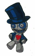 "5"" Voodoo Doll Iron-On Patch Low Brow Art Rockabilly Cute Kawaii Plush Punk Rock"