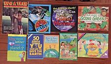 Lot of 9 picture books, saving the earth, energy conservation...
