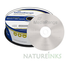 25 MediaRange Di marca MultiSpeed 800MB 90min CD-R Vergine dischi 48x MR221