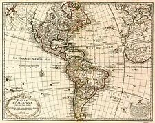 MAP ANTIQUE L'ISLE 1780 WESTERN HEMISPHERE OLD LARGE REPRO POSTER PRINT PAM0977