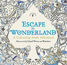 Escape to Wonderland Adult Colouring Book Alice in Lewis Carroll White Rabbit