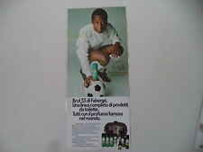 advertising Pubblicità 1976 BRUT 33 FABERGE' e PELE'